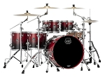 Mapex Drum Set Saturn Studioease 5 Piece Maple / Walnut Shell Pack in Scarlet Fade Lacquer