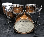 Tama Drum Set Star Series 5 Piece Bubinga Shell Pack in Natural Indian Laurel Gloss Finish - PASIC 2018