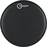 Aquarian Hi-Velocity Black Coated Double Ply Specialty Snare Drum Head w/ Large Reverse Power Dot