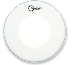 Aquarian Hi-Velocity White Coated Double Ply Specialty Snare Drum Head w/ Large Reverse Power Dot