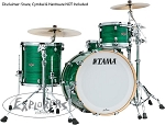 Tama Drum Set Starclassic 3 Piece Walnut/Birch Shell Pack in Jade Silk