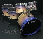 Tama Drum Set Starclassic 5 Piece Walnut/Birch Shell Pack in Satin Purple Atmosphere Fade