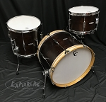C&C Custom Drum Set Player Date 2 BeBop 3 Piece 7 Ply Map/Mah/Map in Walnut Finish - 20,12,14