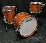 Ludwig Drum Set USA Oak Series FAB 3 Piece Shell Pack in Tennessee Whiskey