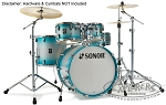 Sonor Drum Set AQ2 Studio Series 5 Piece Maple Shell Pack - Aqua Silver Burst