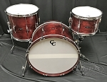 C&C Custom Drum Set Player Date 2 Big Beat 3 Piece 7 Ply Maple/Mahogany/Maple in Cherry Cola Stain