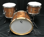 C&C Custom Drum Set Player Date 1 3 Piece 7 Ply Mahogany - Mahogany Satin Stain