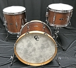 C&C Custom Drum Set Player Date 1 3 Piece 7 Ply Mahogany - Brown Mahogany Satin Stain  20
