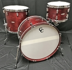 C&C Custom Drum Set Player Date 2 Big Beat 3 Piece 7 Ply Map/Mah/Map in Cherry Cola w/ Double Lugs
