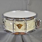 DW Classic 5.5x14 Vintage Marine W/ Tube Lugs and True Hoops Chrome Hardware