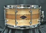 Craviotto Custom Snare Drum 6.5x14 Maple/Mahogany/Maple Stacked Solid Shell