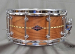 Craviotto Custom Snare Drum Solid Shell 6.5x14 Walnut w/ Maple Inlay 45/45 Bearing Edges