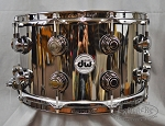 DW Snare Drum Collectors Series 8x14 Black Nickel over Brass Snare Drum - Black Nickel Hardware