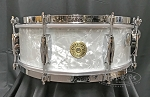 Gretsch Snare Drum USA Broadkaster 5x14 Maple/Poplar/Maple Shell in White Marine Pearl