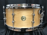 Gretsch Snare Drum USA Custom 7x14 Round Badge Exclusive Satin Millennium Maple Gum Shell