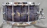 Hendrix Custom Snare Drum 14x6 Archetype Stave Curly Maple in Gray Burst