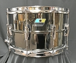 Ludwig Snare Drum 8x14 Smooth Shell Black Beauty w/ Imperial Lugs - B Stock