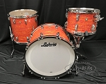 Ludwig Drum Set Classic Maple FAB 3 Piece Shell Pack in MOD Orange