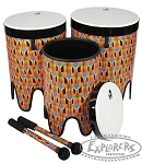 Toca Percussion Freestyle II Nesting Tom Tom Drums - Kente