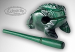 Nino Wood Frog Guiro, Large - Green