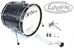 Odery Cafe Kit Portable Drum Set Expansion Pack - Black Ash