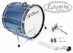 Odery Cafe Kit Portable Drum Set Expansion Pack - Blue Sparkle