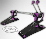 Trick Custom Shop Pro1-V Bigfoot Direct Drive Double Bass Drum Pedal - Black & Purple