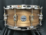 DW PDP Limited Edition Snare Drum 6.5x14 Concept Series Maple/Walnut 20 Ply Hybrid Shell - Natural Satin Finish