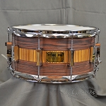 Pork Pie Snare Drum USA Custom 7x14 Rosewood/Zebrawood Satin Oil Finish