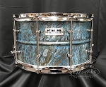 Pork Pie Snare Drum USA Custom 8x14 Patina Brass Shell