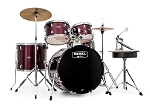 Mapex Drum Set Rebel 5 Piece Complete Junior Set Up with Fast Size Toms - 18,10,12,14,14