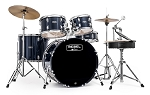 Mapex Rebel 5 Piece Drum Set SRO Complete Set Up with Fast Size Toms - 22,10,12,16,14