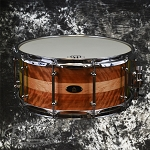 RBH Custom Monarch Series 6.5 x 14 Snare Drum - Mahogany Poplar Shell with Birdseye Maple Inlay