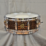 Gretsch 5x14 Hammered Black Steel Snare Drum