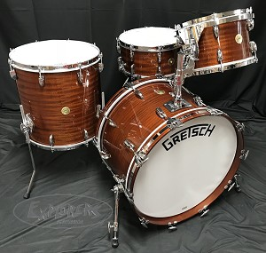 Gretsch Drum Set Broadkaster 135th Anniversary 4 Piece Shell Pack in Classic Mahogany