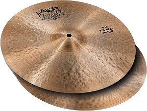 "Paiste 2002 Black Label ""Big Beat"" Hi-Hat Cymbals"