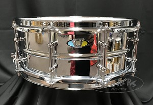 Ludwig Snare Drum Supralite 5.5x14 Chrome over Steel Beaded Shell w/ Tube Lugs