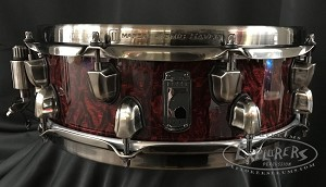 Mapex Snare Drum Russ Miller Signature 14x 4 5/8 Versatus Mahogany/Maple Shell in Transparent Cherry Over Burl Finish - Open Box Model