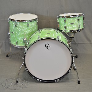 C&C Drum Set Player Date 2 3 Piece Shell Pack in Mint Marine Pearl Finish