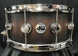 DW Snare Drum Collector's Series 6.5 x 14 Cherry Mahogany in Satin Candy Black Burst