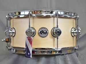 DW Collectors Series 6.5x14 10+6 ply Maple Snare Drum in Natural Satin Oil