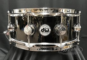 DW Snare Drum Collector's Series 5.5x14 Black Nickel Over Brass Shell w/ Chrome Hardware