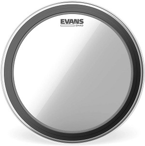 Evans EMAD Clear Single Ply Batter Bass Drum Head