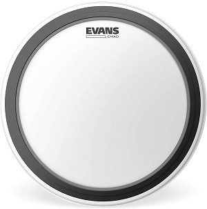Evans EMAD Coated White Single Ply Batter Bass Drum Head