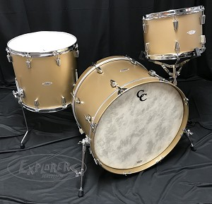C&C Custom Drum Set Gladstone Pro Beat 3 Piece 7 Ply Maple Shell Pack in Gold Top Finish - 22,13,16