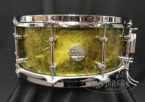 Doc Sweeney Snare Drum USA Custom Cosmos 6x14 Stave Maple Shell in a One Of A Kind Custom Finish