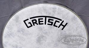 gretsch broadkaster bass drum head logo. Black Bedroom Furniture Sets. Home Design Ideas