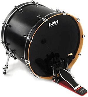 "Evans 22"" Hydraulic Black 2 Ply Bass Drum Head"