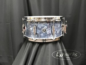 Gretsch Brooklyn Abalone 6.5x14 snare drum 8 lug with microsensitive throw off