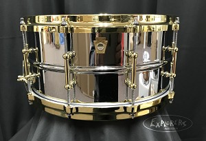 Ludwig Chromed Brass 6.5x14 snare drum chrome plated brass